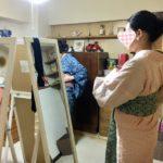 名古屋市緑区・名東区藤が丘の着付け教室【ふぇりちた】のレッスン風景