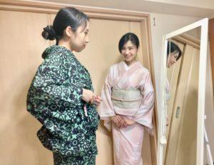 名古屋市緑区名東区の着付け教室【ふぇりちた】のレッスン風景